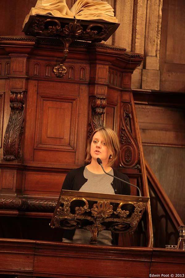 Marleen Blootens op het kansel